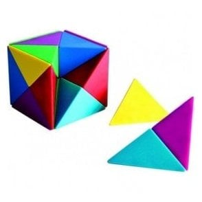 Assorted Colour Magnetic Pyramids Tangram Cube (1 set of 24)