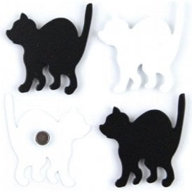 Assorted Deco Office Magnets - Kitty (1 set of 4)