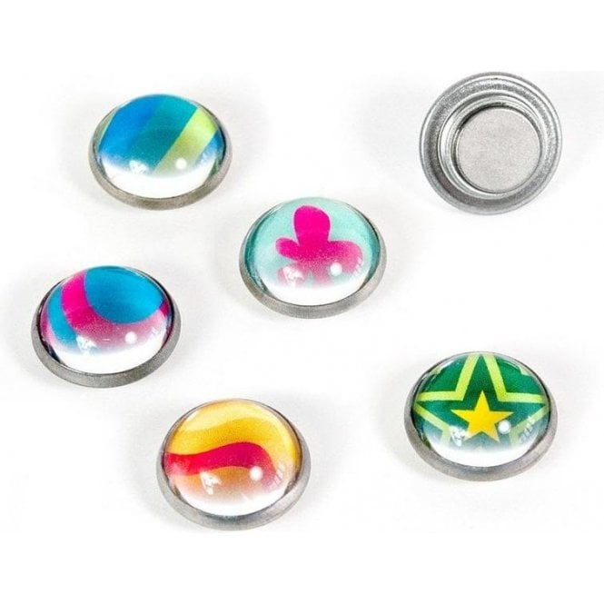 Assorted Domed Circular Office Magnets - Argus