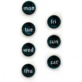 Assorted Domed Circular Office Magnets - Days of the Week