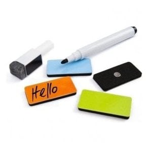 Assorted Dry Wipe 'Memo' Magnets with Marker Pen
