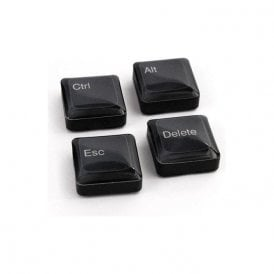 Assorted Icon / App Style Magnets - Keyboard Keys ( 1 set of 4 )