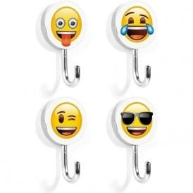 Assorted Magnetic Hooks - Emoji Mix (1 set of 4)