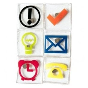 Assorted Office Symbol / Icon Magnets
