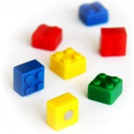 Assorted Popular Shape Office Magnets - Brick ( 1 set of 4 )