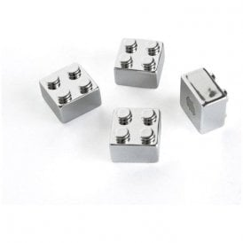 Assorted Popular Shape Office Magnets - Chrome Brick ( 1 set of 4 )