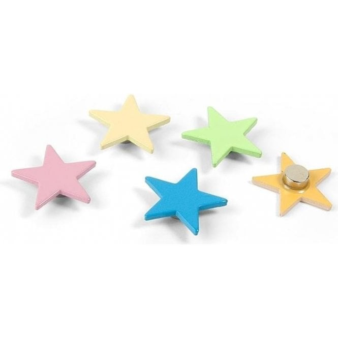 Assorted Popular Shape Office Magnets - Colour Stars ( 1 set of 5 )