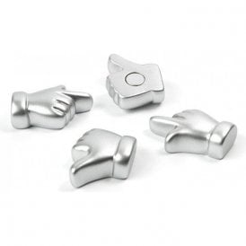 Assorted Popular Shape Office Magnets - Hands (1 set of 4)
