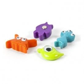 Assorted Popular Shape Office Magnets - Monsters ( 1 set of 4 )