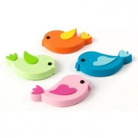 Assorted Rubber Expression Magnets - Birds (1 set of 4)