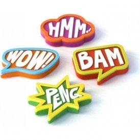 Assorted Rubber Expression Magnets - Comic (1 set of 4)