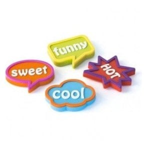 Assorted Rubber Expression Magnets - Fancy