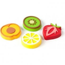 Assorted Rubber Expression Magnets - Fruits (1 set of 4)