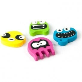 Assorted Rubber Expression Magnets - Monsters (1 set of 4)