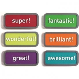 Assorted Rubber Expression Magnets - Motivation (1 set of 6)