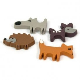 Assorted Rubber Expression Magnets - Prairie / Animals (1 set of 4)