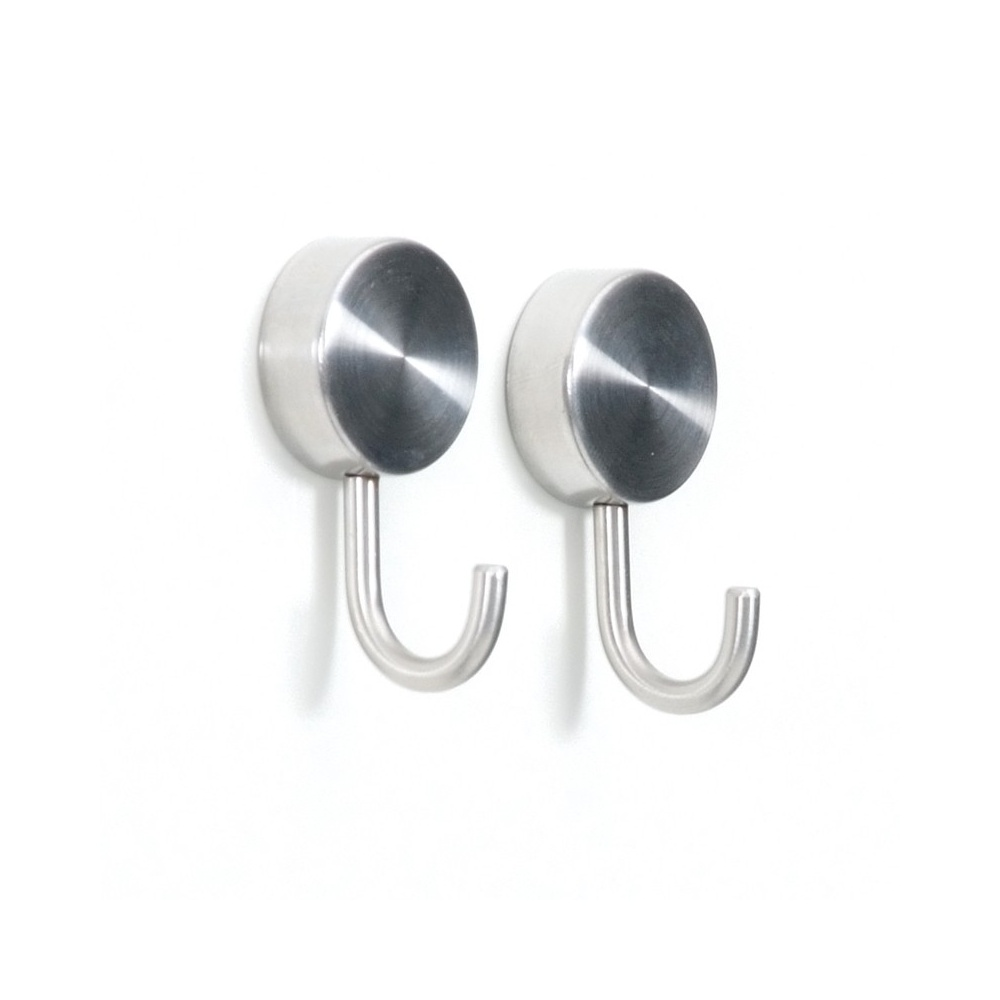 Brushed stainless steel magnetic hooks first magnets