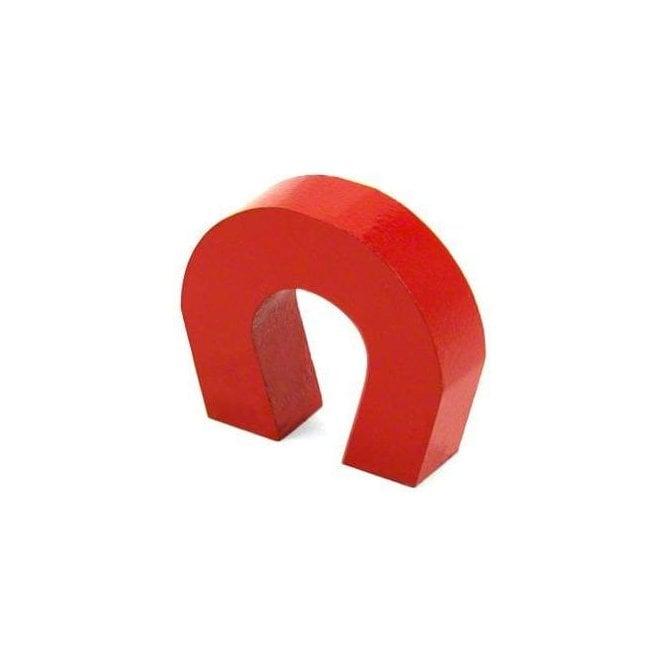 Budget Red Alnico Horseshoe Magnet (25.2 x 29 x 7.9mm)