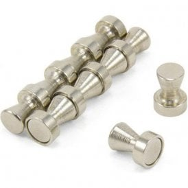 Chrome Skittle Pot Magnet ( 12mm dia x 16mm tall ) ( Pack of 100 )