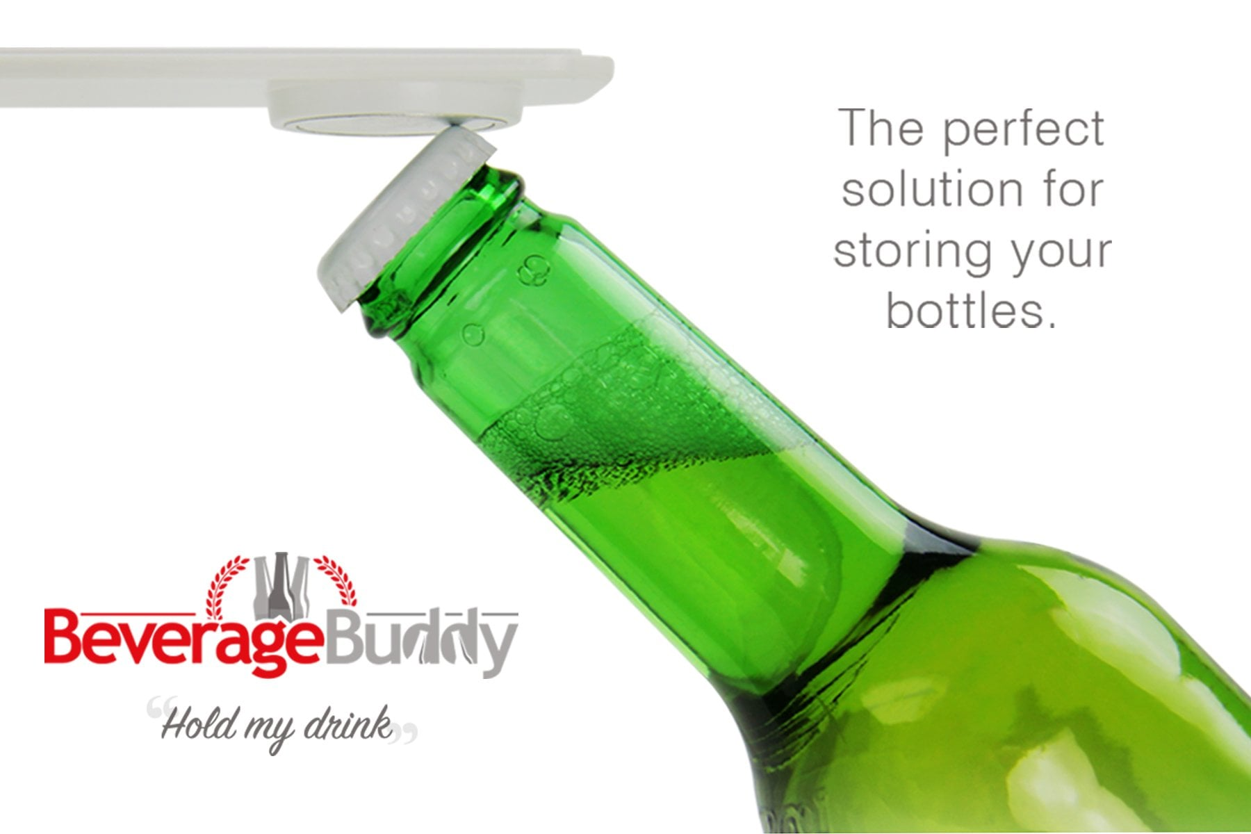 Beverage Buddy, the magnetic drinks holder - perfect solution for storing your bottles in fridge