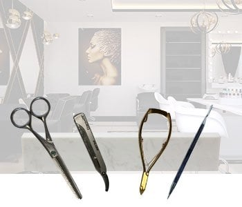 Knife rack image displaying how it can be used in the beauty industry.
