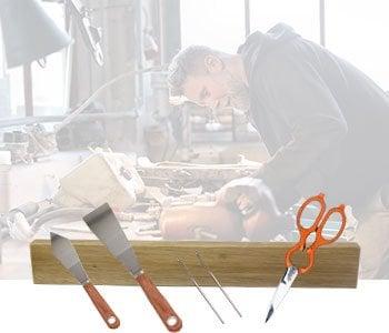 Knife rack display image for crafts.