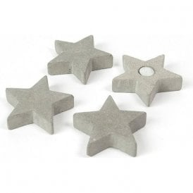 CONCRETE magnets STAR - set of 4 assorted