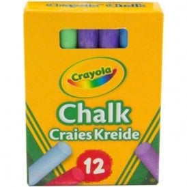 Crayola Anti-dust chalks - Multicoloured (Packs of 12)