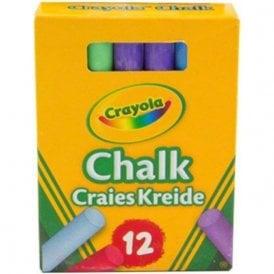 Crayola Anti-dust chalks - Multicoloured (Packs of 12)