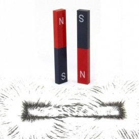 Educational Alnico Bar Magnet & Iron Filings Set - Science & Education ( 1 Set )