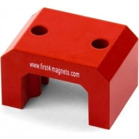 Extra Large Red Alnico Horseshoe Magnet - 23kg Pull (57 x 35 x 40.5)