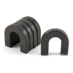 Ferrite Horseshoe Magnet with North & South Identified (30 x 30 x 7mm)