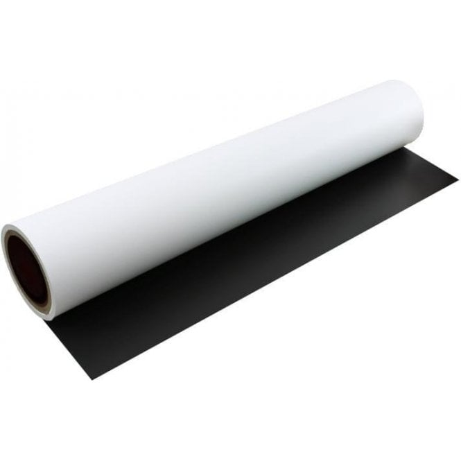FerroFlex® 600mm Wide Flexible Ferrous Sheet - Self Adhesive / Matt White