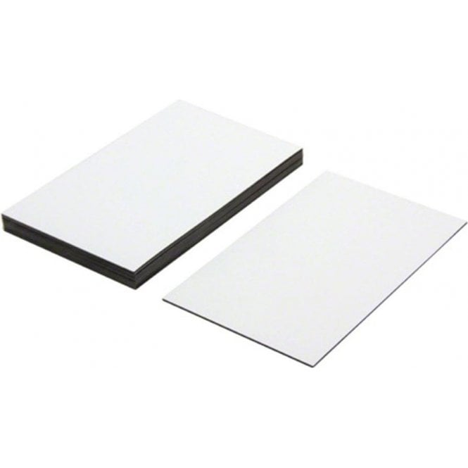 Flexible Magnetic Labels with gloss white dry wipe surface (100 x 60 x 0.76mm)