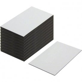 Flexible Magnetic Labels with Gloss White Dry Wipe Surface ( 100 x 60 x 0.76mm ) ( Pack of 100 )