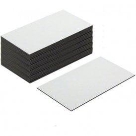 Flexible Magnetic Labels with Gloss White Dry Wipe Surface ( 89 x 51 x 0.76mm ) ( Pack of 100 )