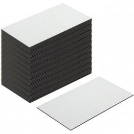 Flexible Magnetic Labels with Gloss White Dry Wipe Surface ( 89 x 51 x 0.76mm ) ( Pack of 1000 )