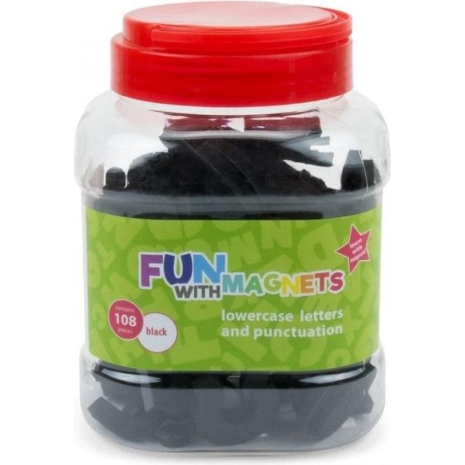 Fun with Magnets 108 Lowercase Magnetic Foam Letters + Punctuation (Black)