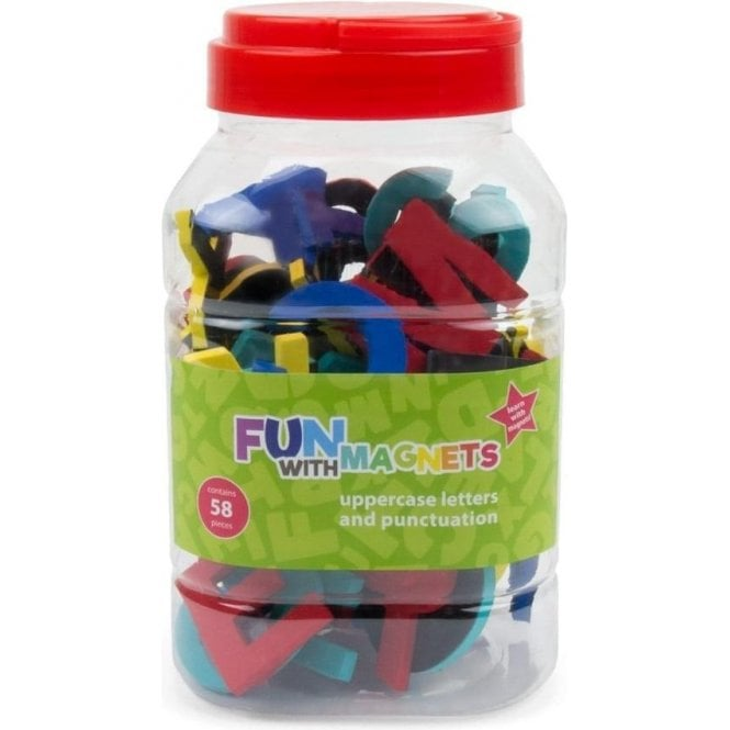Fun with Magnets 58 Uppercase Magnetic Foam Letters + Punctuation (Assorted)
