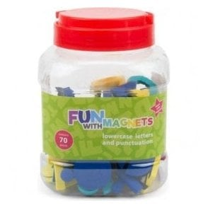 Fun with Magnets 70 Lowercase Magnetic Foam Letters + Punctuation (Assorted)