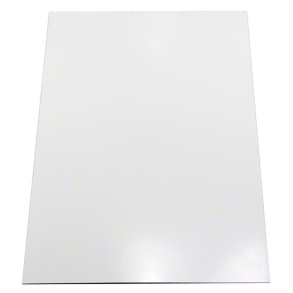 White Gloss Bathroom Fitted Furniture 1500mm: Gloss White Flexible A4 Ferrous Sheet (297 X 210 X 1mm