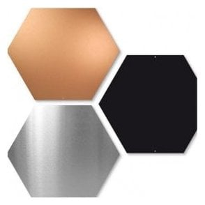 Hexagonal Magnetic Board c/w 10 Magnets - (440 x 380mm)