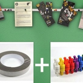 Instant Notice Board Strip Pack - 3M x Ferrous Strip with 32 Skittle Magnet