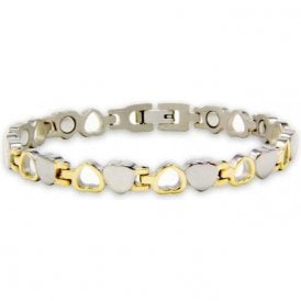 Ladies Rare Earth Magnetic Bracelet with Fold-over Clasp – Aurora
