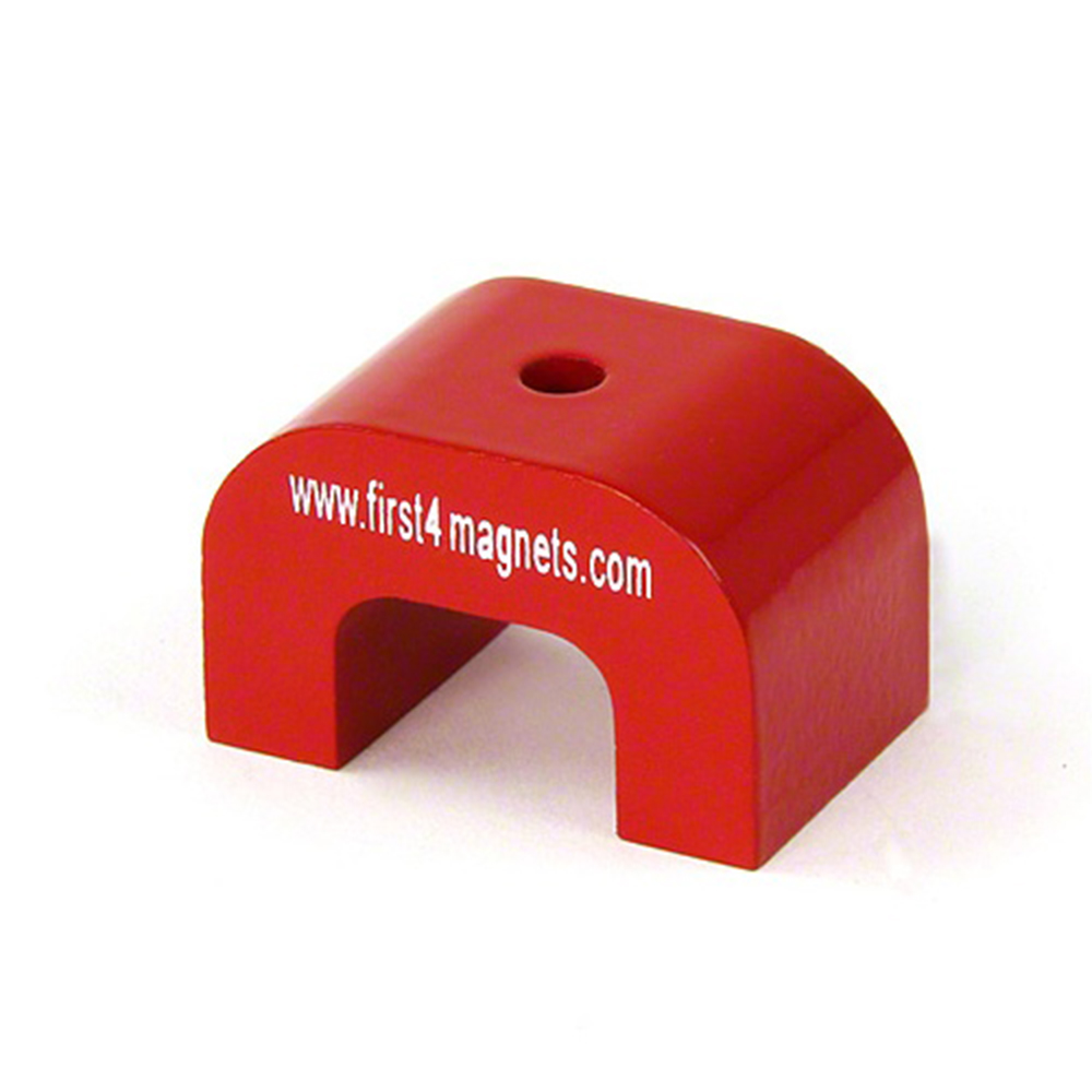large red alnico horseshoe magnet 11kg pull 30 x 45 x 30mm. Black Bedroom Furniture Sets. Home Design Ideas