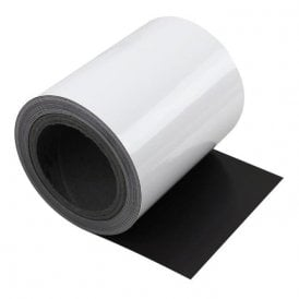 MagFlex® 150mm Wide Flexible Magnetic Sheet - Gloss White (5 Metre Length)