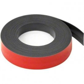 MagFlex® Lite 25mm Wide Flexible Magnetic Gridding Tape - Matt Red (5 Metre Length)