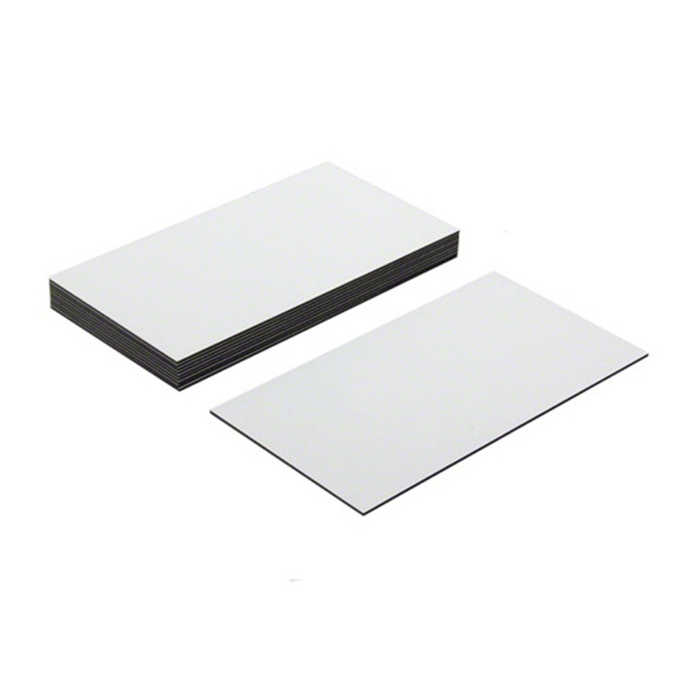 Magnet Expert A4 Sheet of 16 Self Adhesive Magnetic Rectangles Pack of 10 74mm x 52mm x 0.76mm