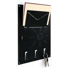 Magnetic A4 Organiser Blackboard with Key Hooks