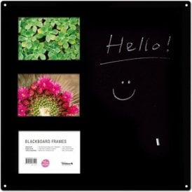 Magnetic Blackboard with Photo Holders
